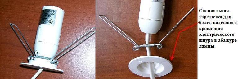Устройство шнура для соляных ламп фото